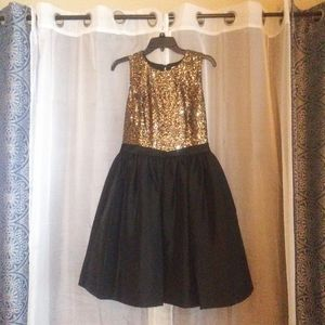 Gold and black party dress